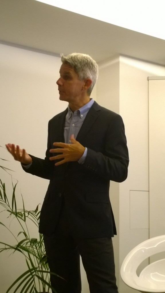David Casarett MD speaking at the book launch for 'Stoned'