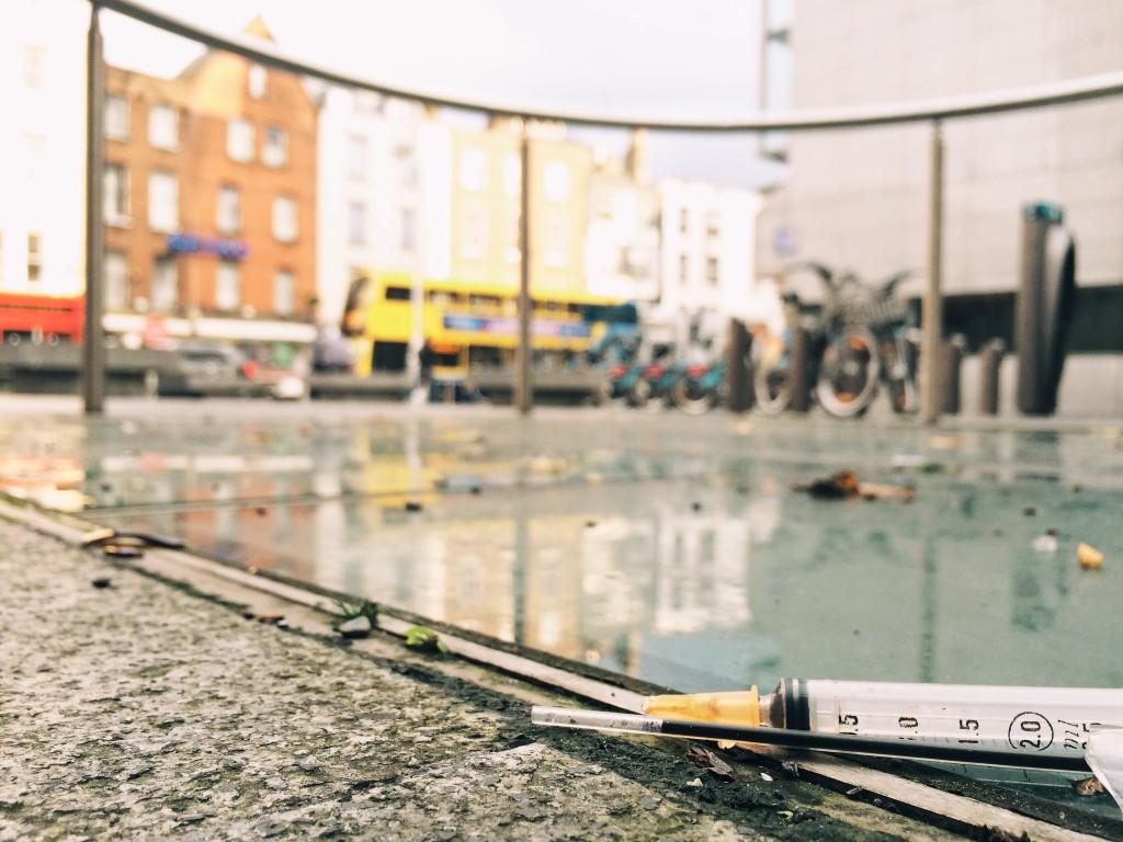 Dublin Castle, Dame Street, Dublin - Public Injecting