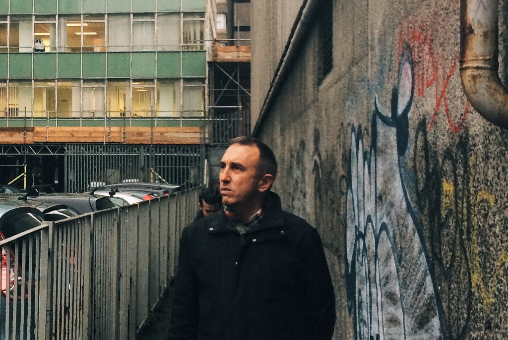 Tony Duffin behind the department of Health, Dublin, on our photo essay tour