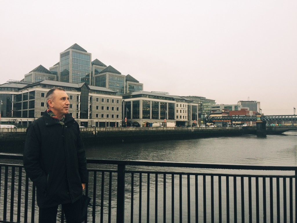 Tony Duffin in Dublin City Centre during VolteFace's tour.