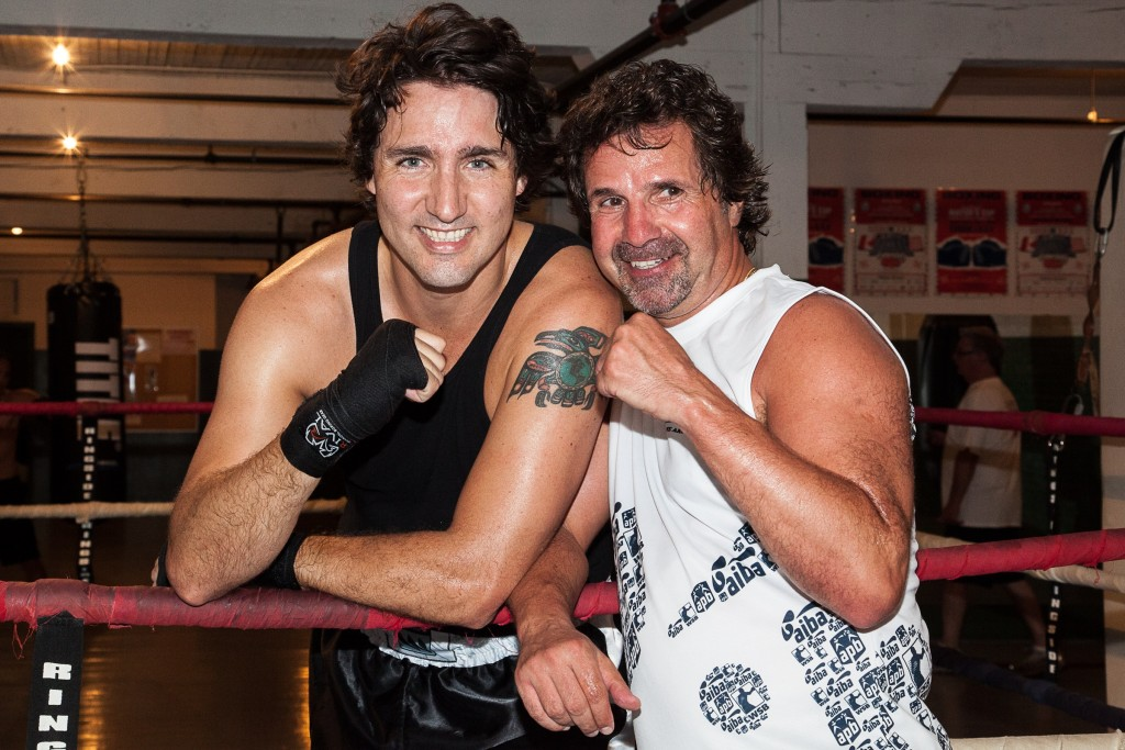 'In the green corner…' Trudeau - The first tattooed head of state?