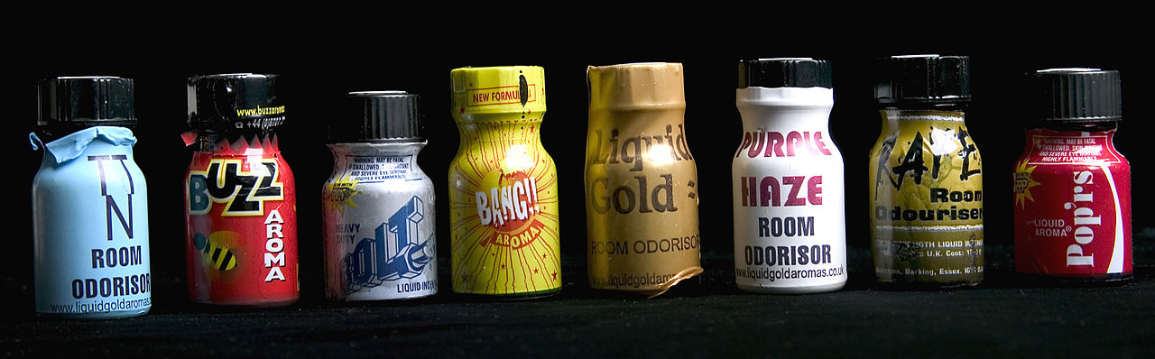 Poppers (Source: Wikimedia Commons: Home Office)