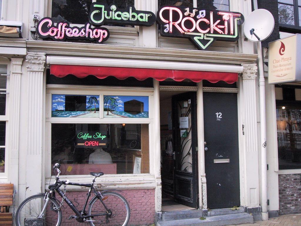 A small Coffee Shop in Amsterdam.