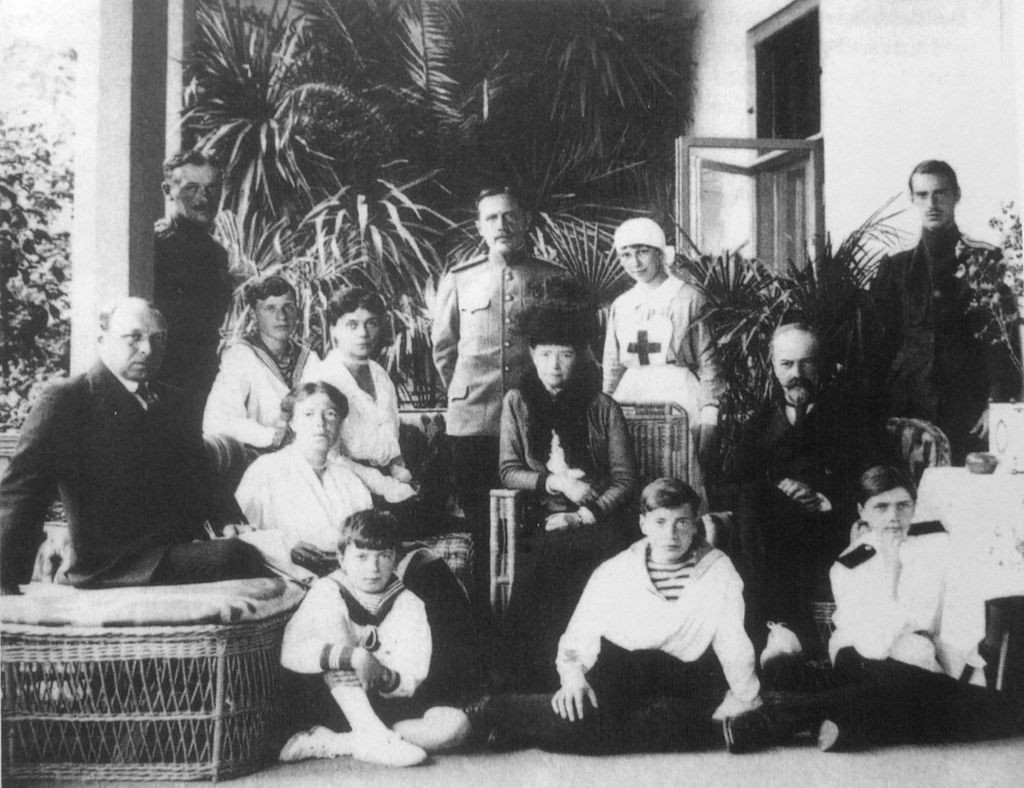 The Romanovs (2nd Dynasty to rule over Russia) under house arrest. 1917. (Source: Wikimedia Commons)