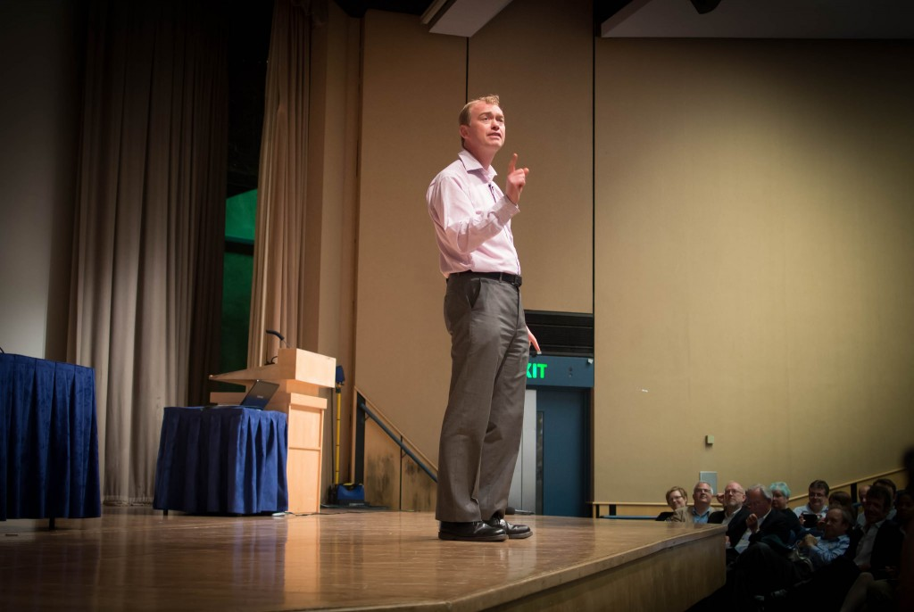 Tim Farron MP - not trying to be the 'cool dad' of UK politics (Source: Flickr - Peter Sigrist)