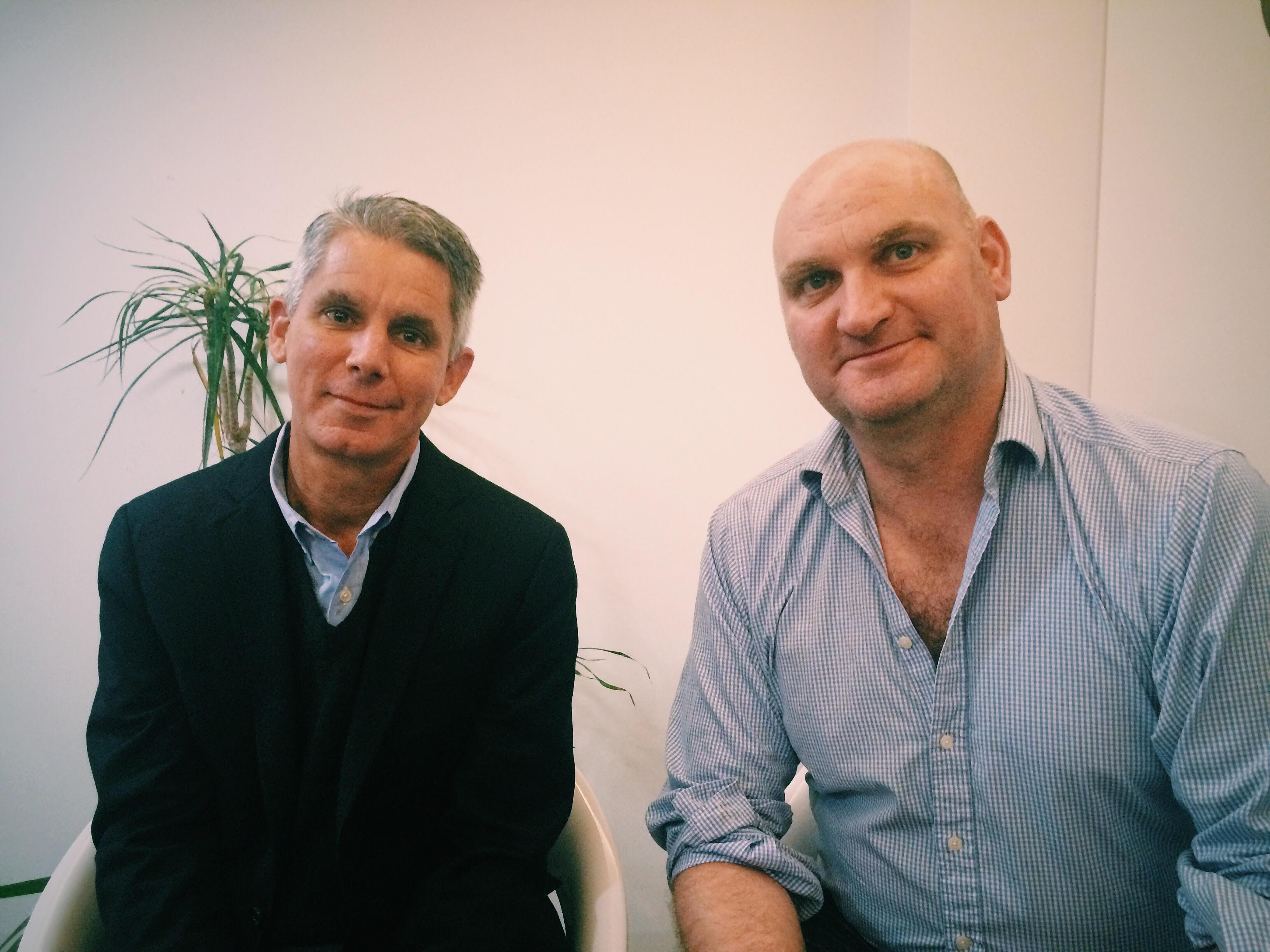 Dr David Casarett with Steve Moore