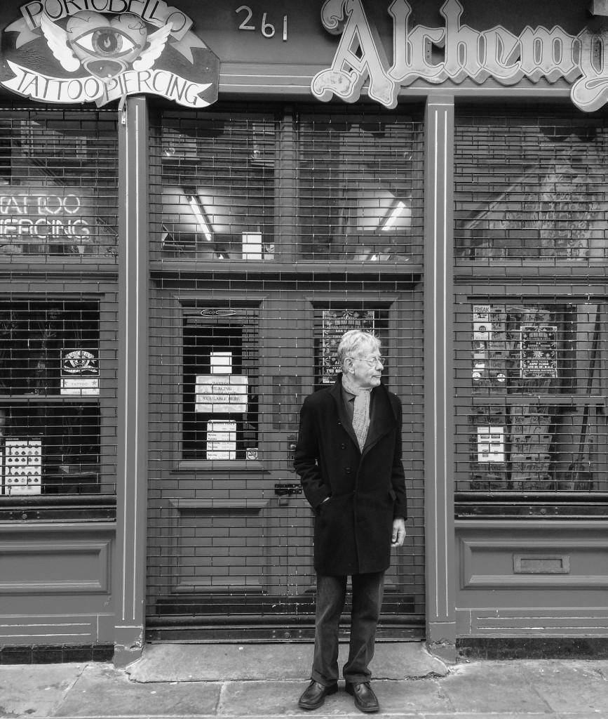 Lee Harris outside his shop Alchemy