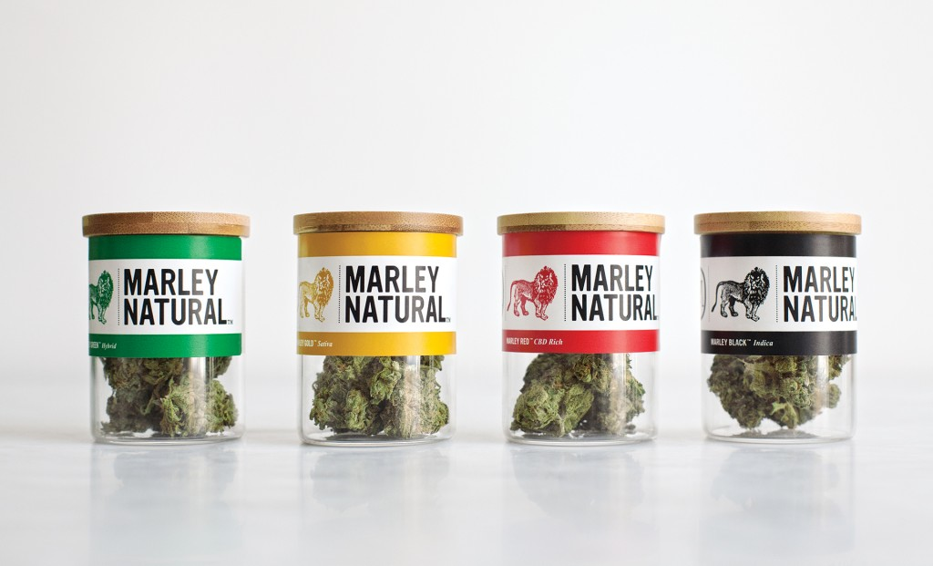 Slick packaging of Marley Natural Products. The Lib Dem expert panel advised against this, recommending 'pharmaceutical style' packaging. (Source: Privateer Holdings)