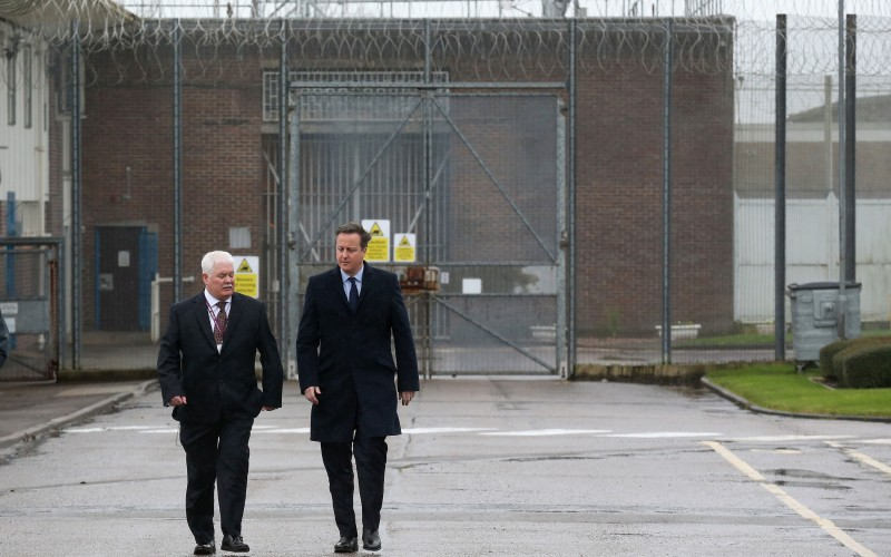 David Cameron touring HMP Olney