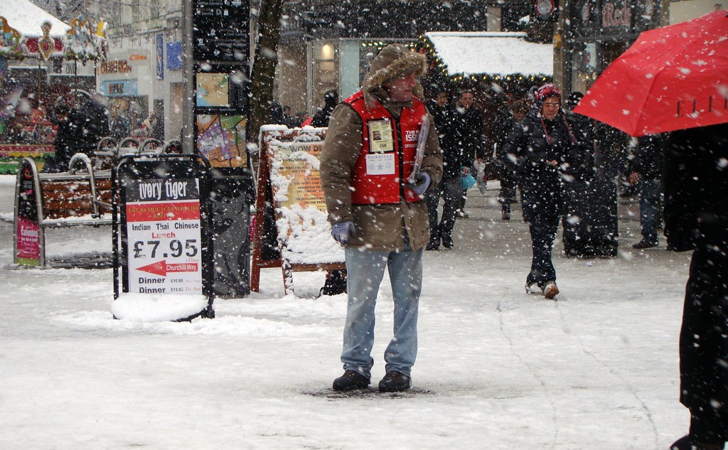 A Big Issue Seller (Source: Flickr - Jon Candy)
