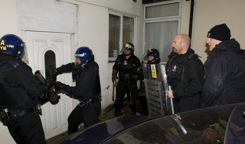 Police raid (Source: Flickr - West Midlands Police)