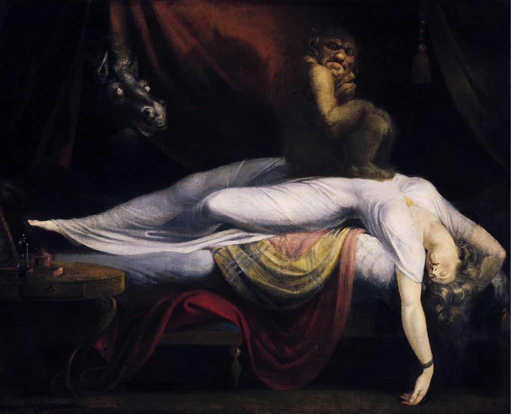 'Face your monsters' - The Nightmare by John Henry Fuseli could just as well be representing a difficult psychedelic experience (Source: Wikimedia Commons)