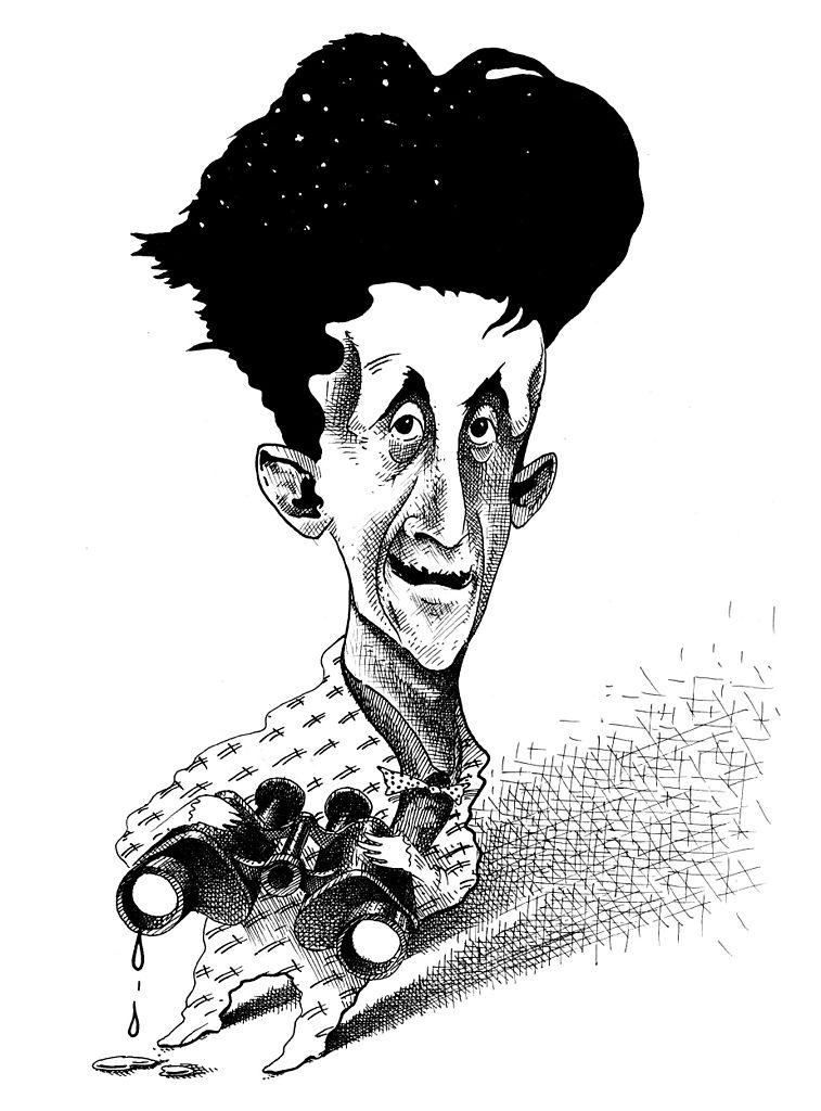 George Orwell, originator of 'doublespeak' (Image by Bernd Pohlenz)