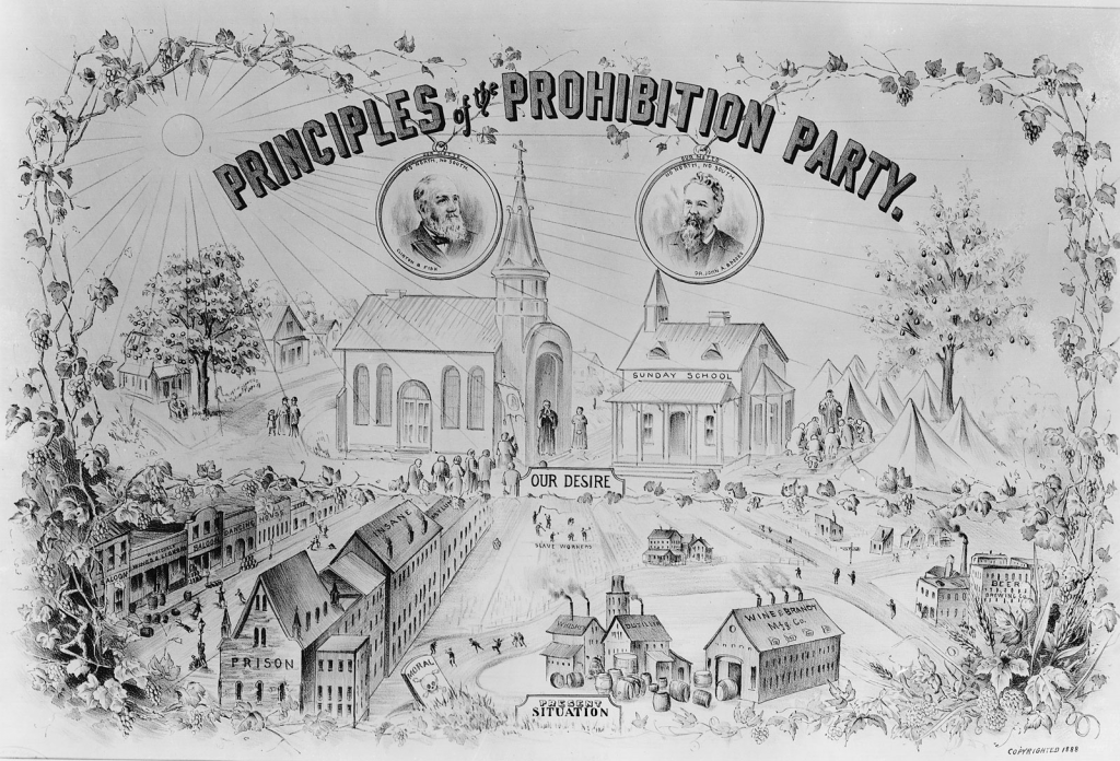 Prohibition Poster, 1888. (Wikimedia Commons)
