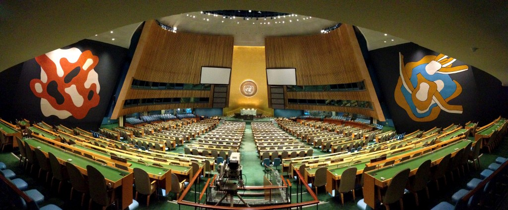The UN General Assembly (Source: Wikimedia Commons)