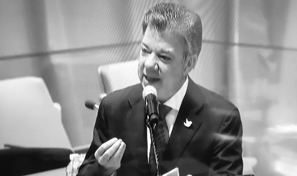 President Santos at the UNGASS. (Source: Ann Fordham)
