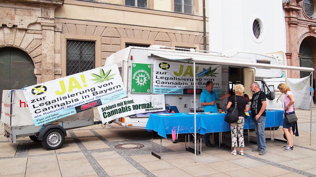 Cannabis legalisation advocates in Munich, Germany. (Source: Wikimedia Commons)