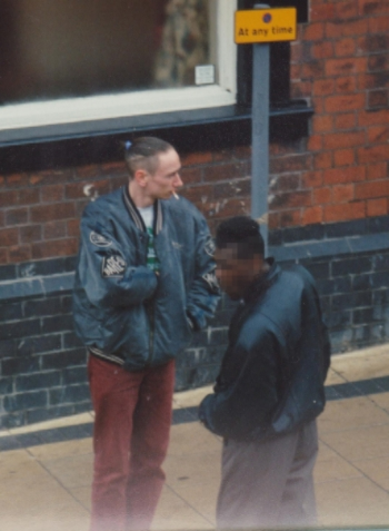 Neil Woods (top) pictured during his days as an undercover drug user. (Source: Neil Woods / Ian Lloyd)