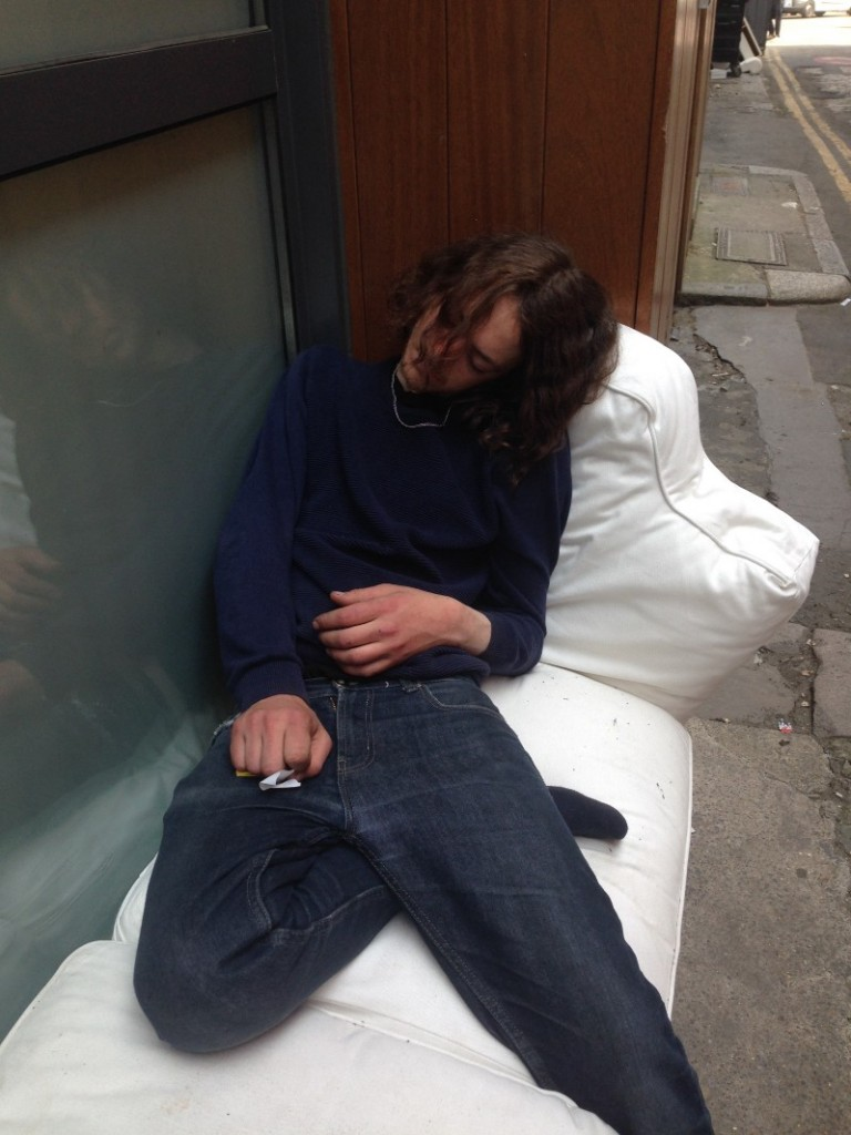 May 2016, Shoreditch — Patrick's sleeping spot since February 2016