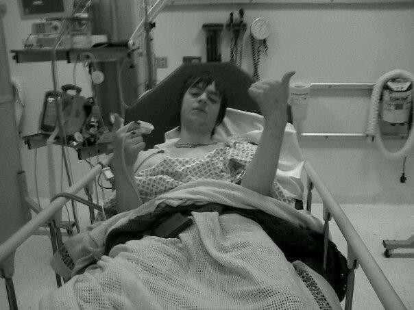 October 2011, taken to hospital by ambulance after arriving to work (a shoe shop) in a bad way due to alcohol and drugs