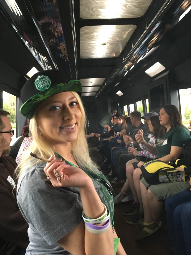 Emalee Hyde, tour guide and cannabis activist. (Photo by author)