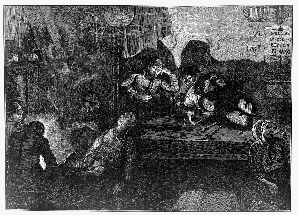 East End Opium Den Illustration (Wellcome Library)
