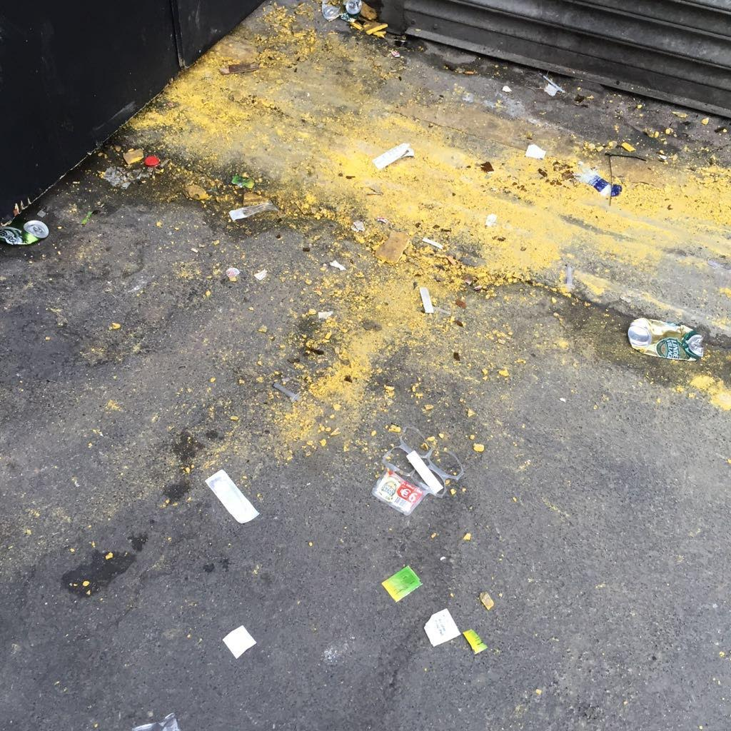 Drug related waste on Moore Street, Dublin. (Source: Ana Liffey Drug Project)