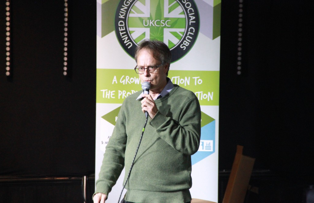 Marc Emery speaking at the 1st Annual General Meeting of the UK Cannabis Social Clubs.