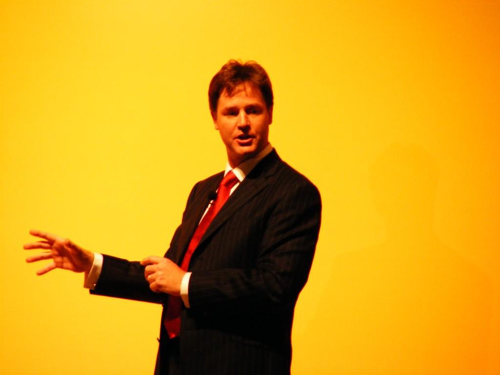 Nick Clegg. (Wikimedia Commons)