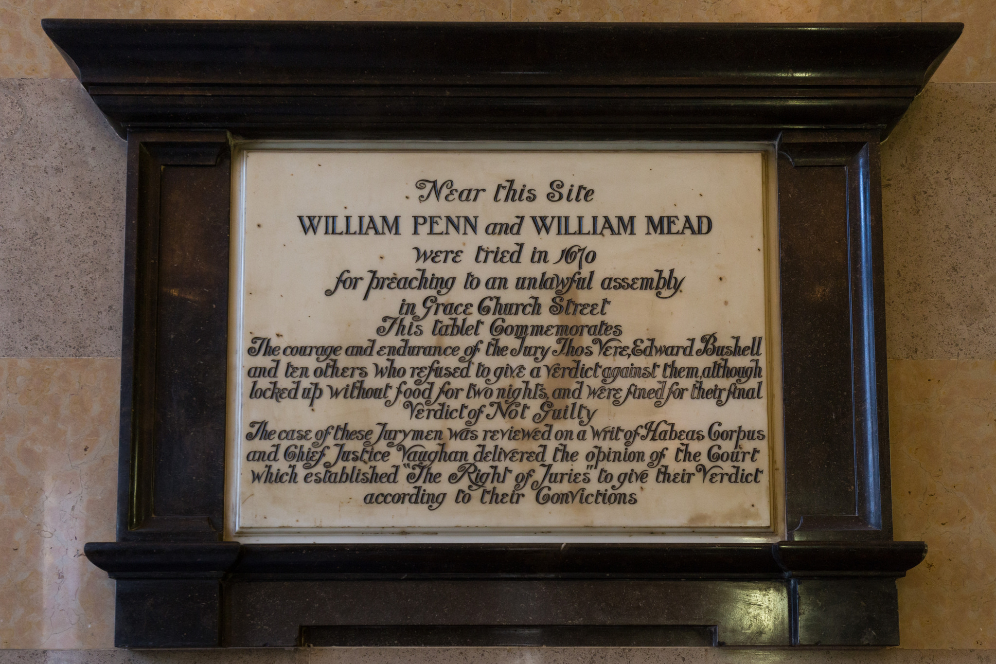 William Penn & William Mead Plaque (Flickr: Paul Clarke)