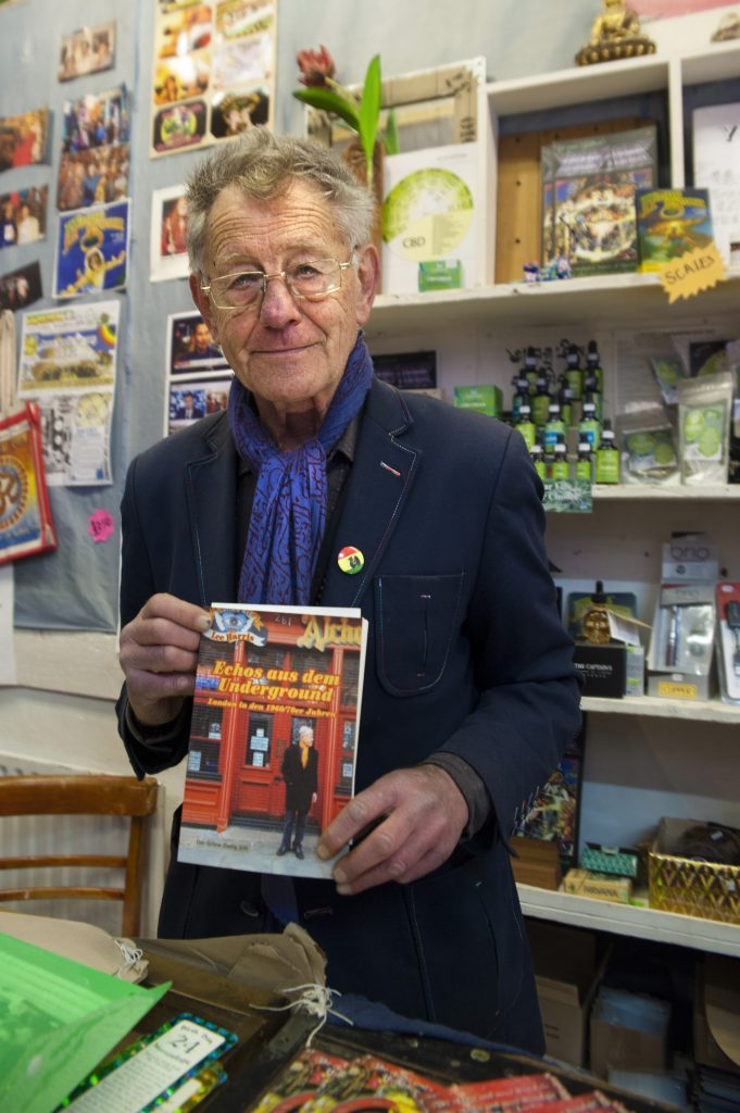 Lee with his book 'Echoes Of The Underground'. (Photo by Matt Cameron-Wilton)
