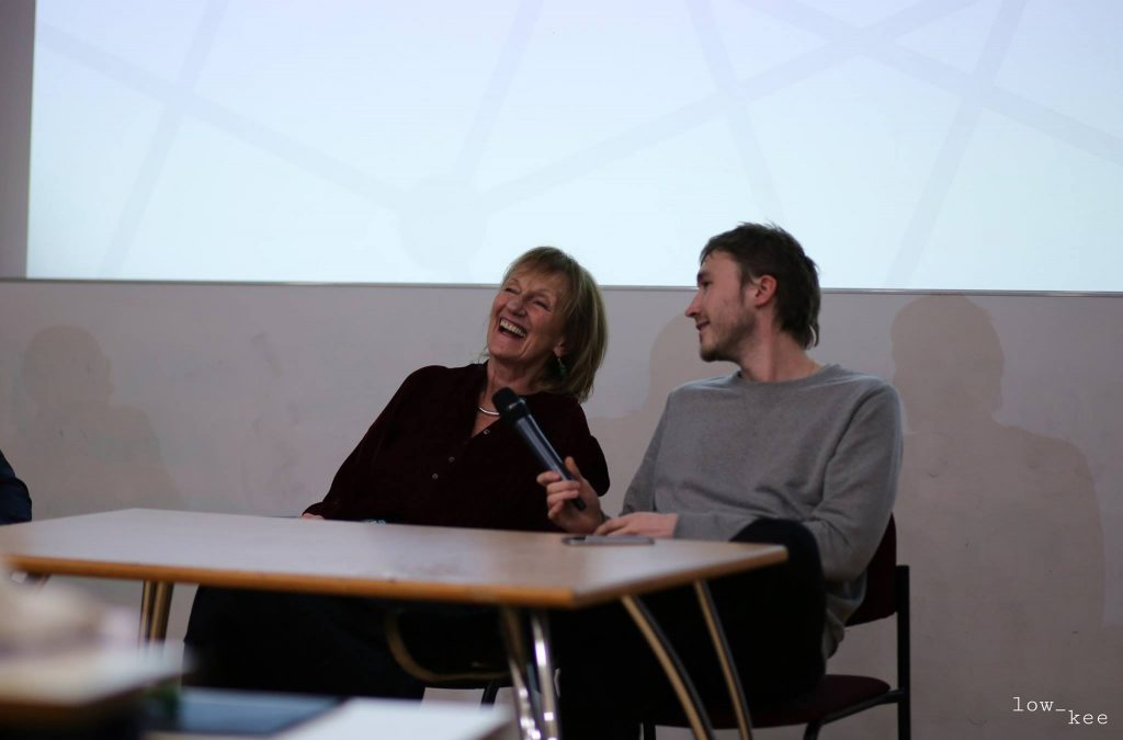 Amanda Feilding and Cosmo Feilding-Mellen in conversation. (Photo by Low Kee Photography)