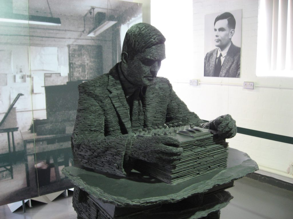 Statue of Alan Turing. (Wikimedia Commons)