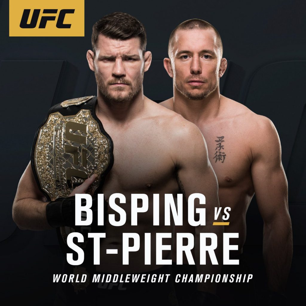Michael Bisping vs George St-Pierre. (Source: MMA Weekly)