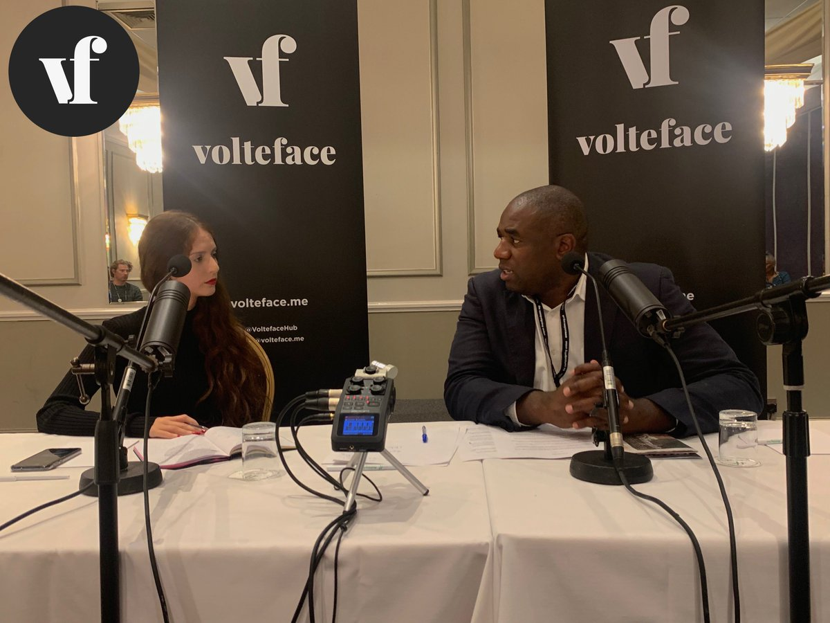 Labour MP David Lammy speaking at a Volteface policy briefing.